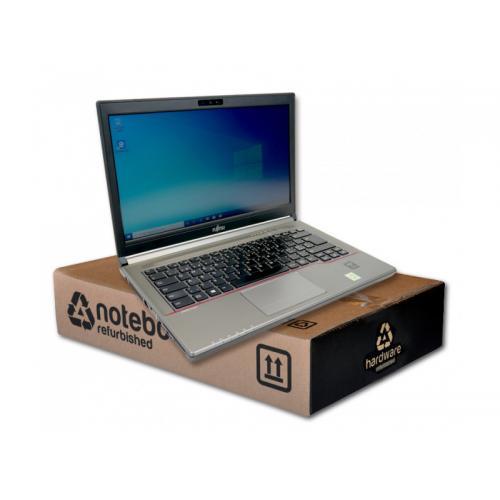 Fujitsu Lifebook E734 Intel Core i5 4310M 2.7 GHz. · 8 Gb. SO-DDR3 RAM · 128 Gb. SSD · Teclado internacional con pegatinas en Ca