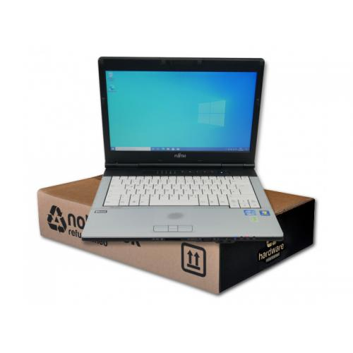 Fujitsu Lifebook S751 Intel Core i5 2520M 2.5 GHz. · 8 Gb. SO-DDR3 RAM · 500 Gb. SATA · DVD-RW · Teclado internacional con pegat