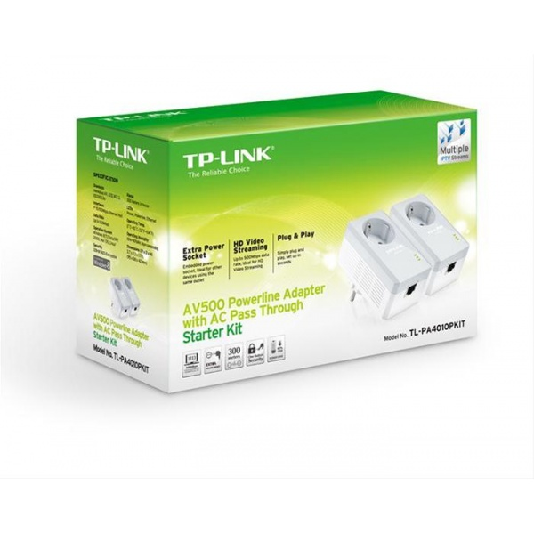 ADAPTADOR POWERLINE TP-LINK 500MB 2UDS ENCHUFE