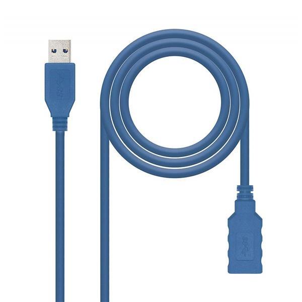 CABLE USB 3.0 A/M-A/H 2M AZUL NANOCABLE