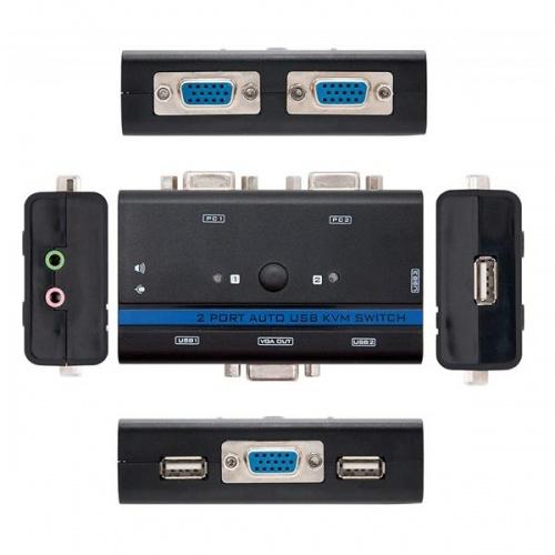 KVM SWITCH VGA USB 1U-2PC+CABLE NANOCABLE