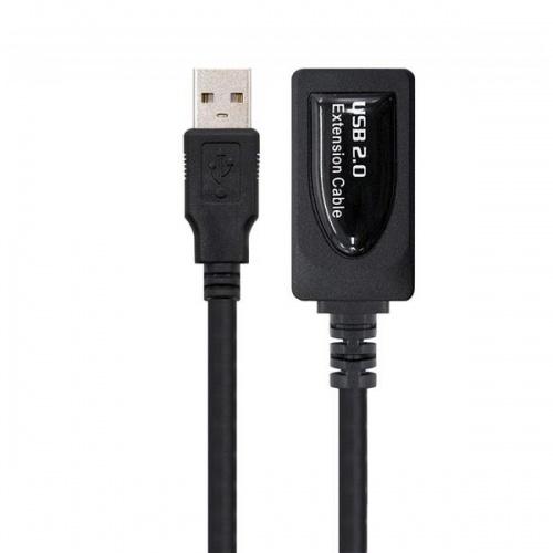 CABLE USB 2.0 PROLONGADOR CON AMPLIFICADOR A/M-A/H 5M NEGRO NANOCABLE