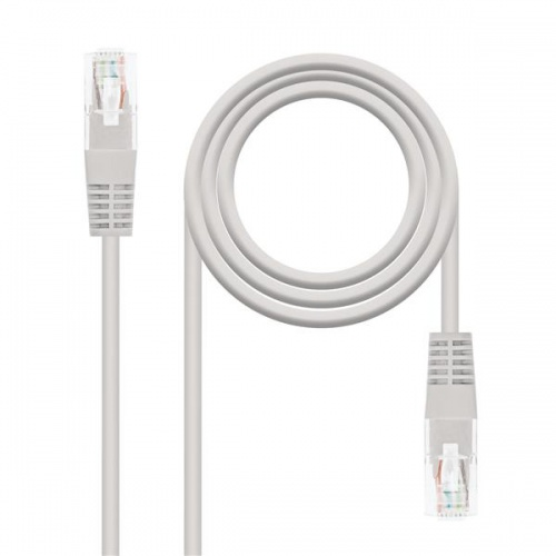 CABLE RED LATIGUILLO RJ45 CAT.6 UTP AWG24,0.5M GRIS NANOCABLE