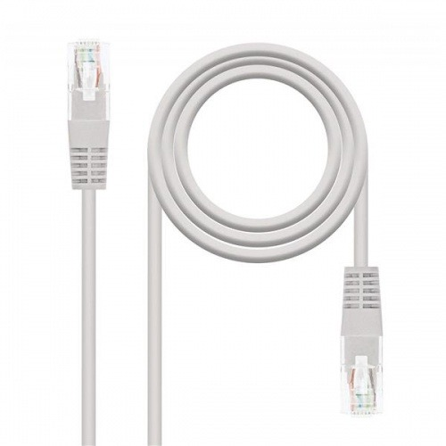 CABLE RED LATIGUILLO RJ45 CAT.5E UTP AWG24,1M GRIS NANOCABLE