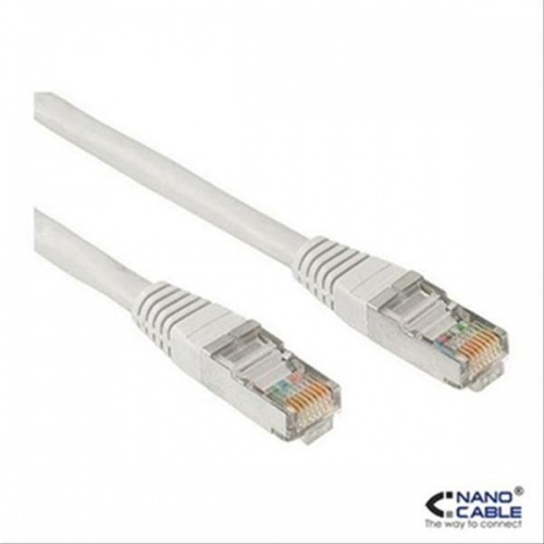 CABLE RED LATIGUILLO RJ45 CAT.5E UTP AWG24,1M AZUL NANOCABLE