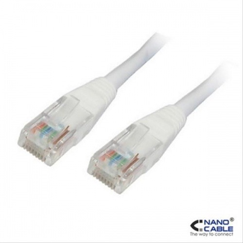 CABLE RED LATIGUILLO RJ45 CAT.6 UTP AWG24,1M BLANCO NANOCABLE
