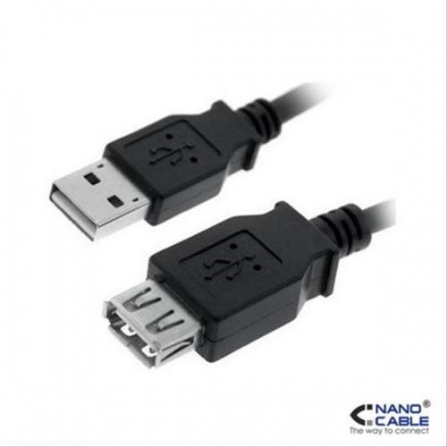 CABLE USB 2.0 PROLONGACION A/M-A/H 1.8M NEGRO