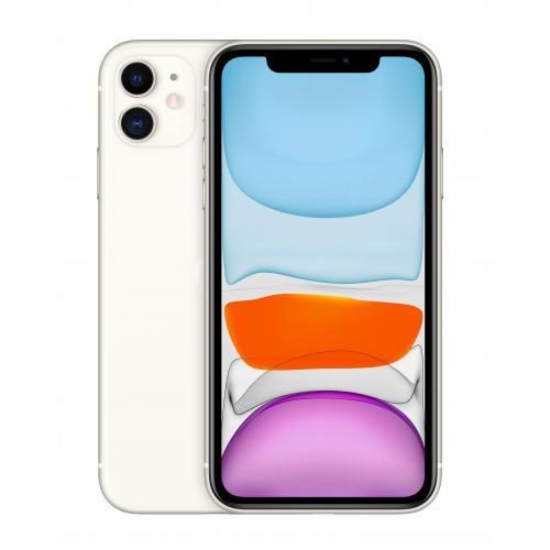 "iPhone 11 15,5 cm (6.1"") SIM doble iOS 14 4G 64 GB Blanco - Imagen 1"