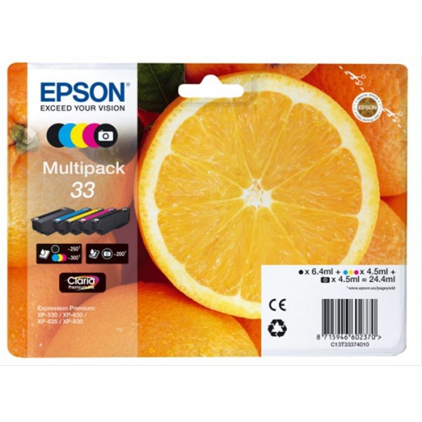 CARTUCHO TINTA EPSON 33 5-COLOURS MULTIPACK .·