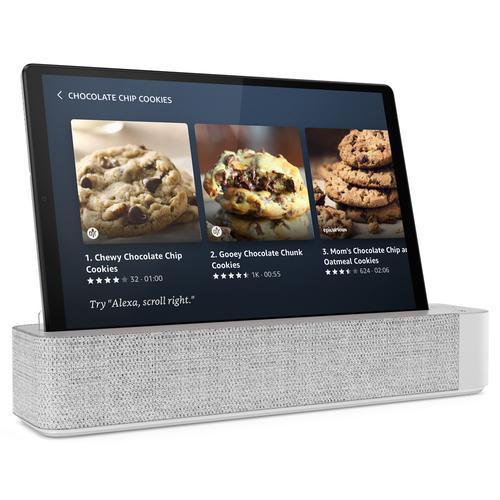 "Lenovo Smart Tab M10 HD with Alexa Built-in 64 GB 25,6 cm (10.1"") Mediatek 4 GB Wi-Fi 5 (802.11ac) Android 10 Gris, Platino"