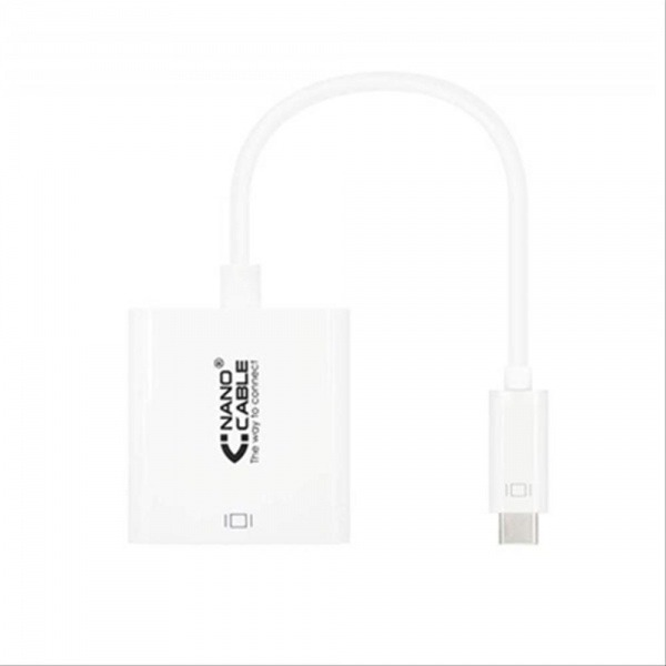 CABLE CONVERSOR USB-C A HDMI 4K 0.15M BLANCO NANOCABLE