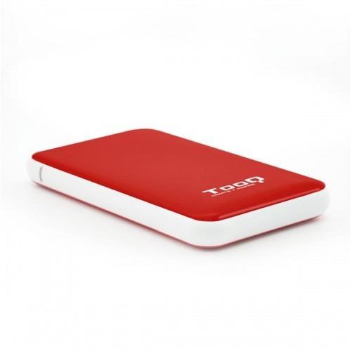"""CAJA EXTERNA 2.5"""" SATA TOOQ ROJA USB 3.1 9.5mm"""