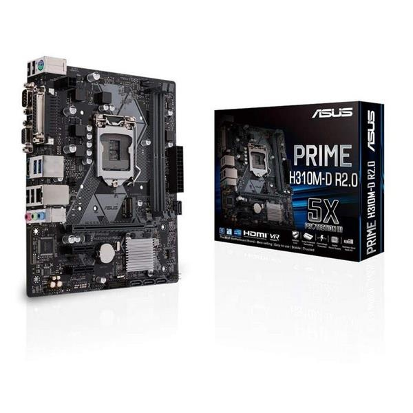 PLACA I3/I5/I7 ASUS PRIME H310M-D R2.0 (S.1151) DDR4 GEN8 GEN9