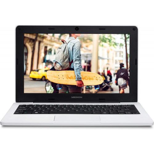 PORTATIL MEDION E11201/11,6 HD/IC-N3450/1,10-2,20 GHz/4GB/64GB eMMC/W10 Pro Academic/white