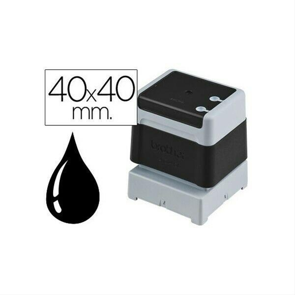BROTHER 6 PACK STAMPS BLACK 40 X 40 MM·