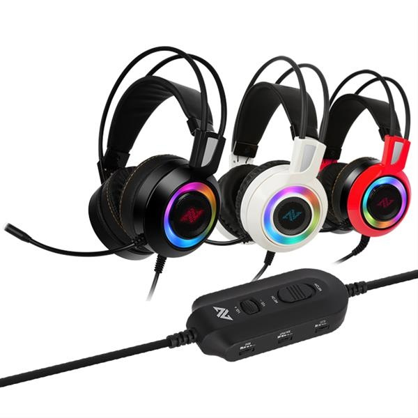 AURICULARES GAMING ABKONCORE CH60 BLACK REAL 7.1 RGB LED
