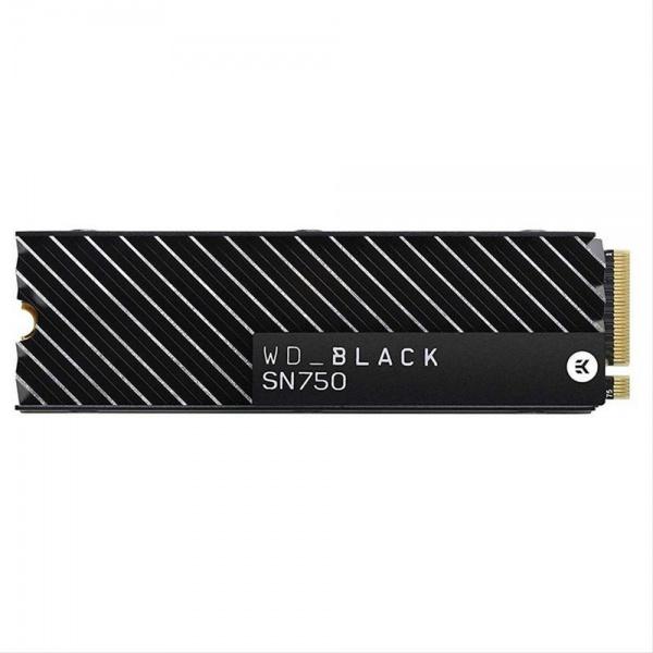 SSD M.2 2280 1TB WD BLACK SN750 + DISIPADOR NVMe PCIE R3470/W3000 MB/s