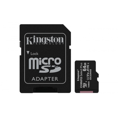 MEMORIA MICRO SD 64GB XC1 C10 A1 KINGSTON