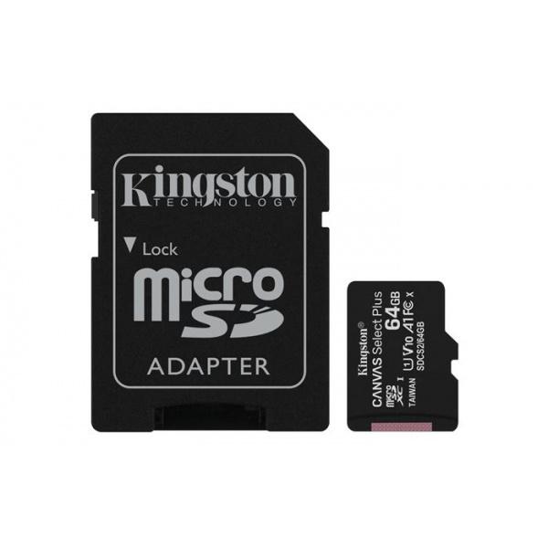 MEMORIA MICRO SD 64GB XC1 C10 A1 KINGSTON