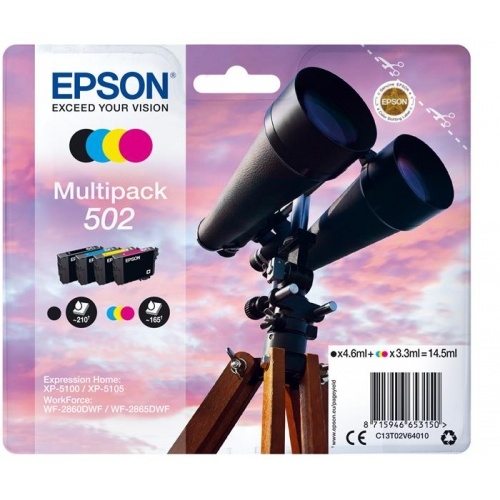 TINTA EPSON MULTIPACK NEGRO+COLOR 502
