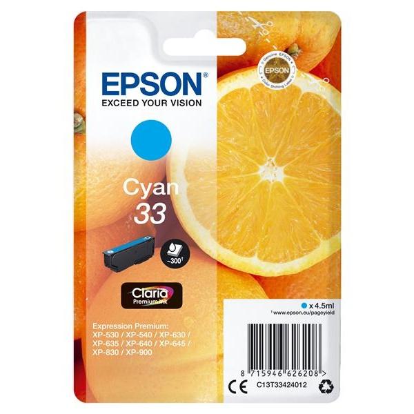 TINTA EPSON 33 CYAN