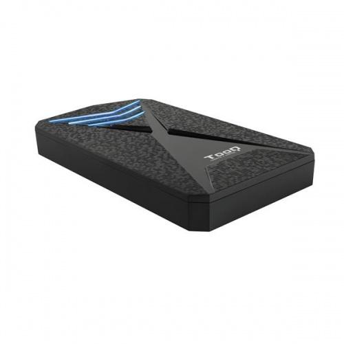 "CAJA EXTERNA 2.5"" SATA TOOQ USB 3.0 / 3.1 LEDS AZUL"