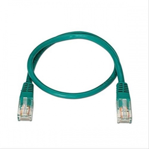 CABLE RED LATIGUILLO RJ45 CAT.6 UTP AWG24,0.5M VERDE NANOCABLE