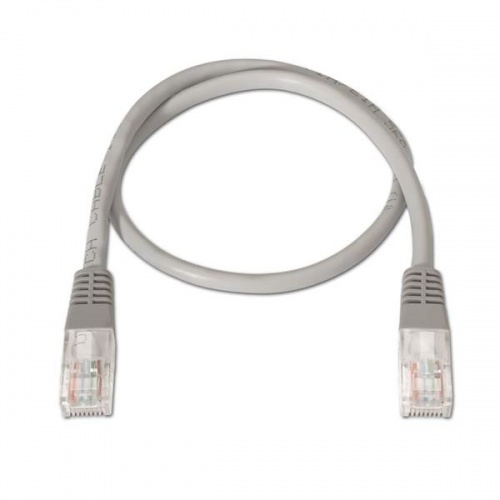 CABLE RED LATIGUILLO RJ45 CAT.6 UTP AWG24,0.25M GRIS NANOCABLE
