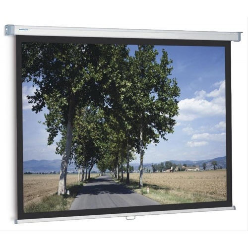PANTALLA MANUAL PROJECTA SLIMSCREEN 200x200 cm 1:1 CON BORDE NEGRO LATERAL