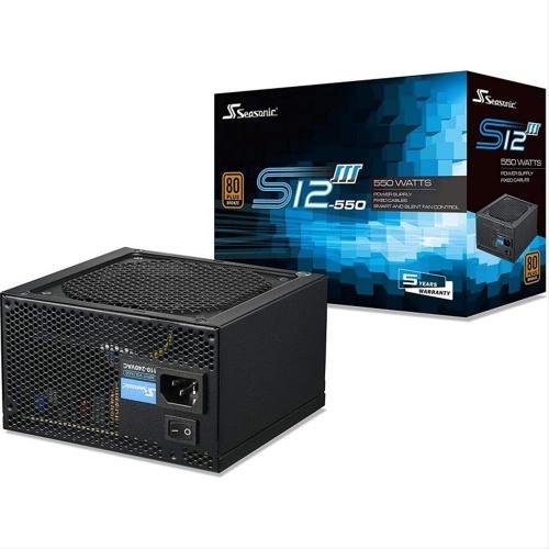 FUENTE ATX 550W SEASONIC S12III-550 80+BRONCE