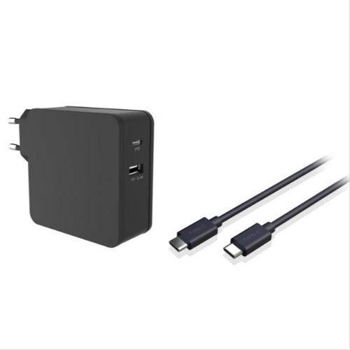 CARGADOR COOLBOX 60W USB-C NEGRO