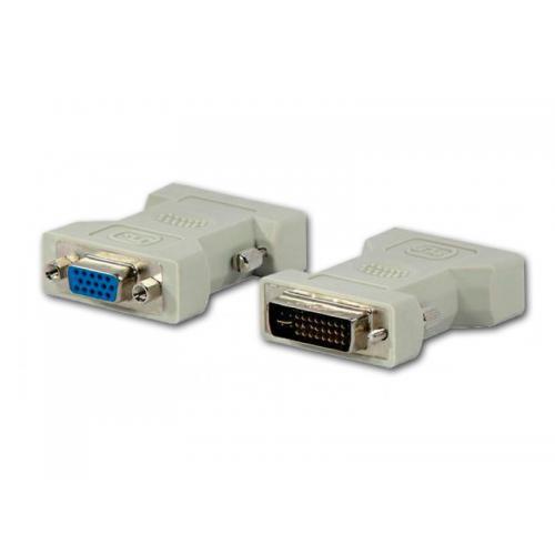 Adaptador DVI-I M a VGA H Adaptador DVI-I (Dual Link) Macho a VGA Hembra