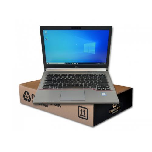 Fujitsu LifeBook E746 Intel Core i5 6200U 2.3 GHz. · 8 Gb. SO-DDR4 RAM · 500 Gb. SATA · DVD-RW · Teclado internacional con pegat