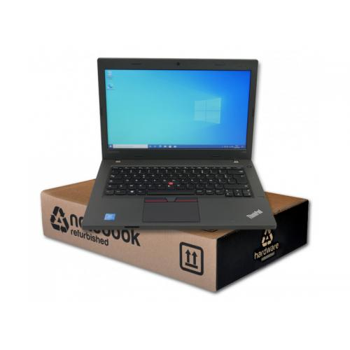 Lenovo ThinkPad L460Intel Pentium 4405U 2.1 GHz. · 4 Gb. SO-DDR3 RAM · 500 Gb. SATA · Teclado internacional con pegatinas en