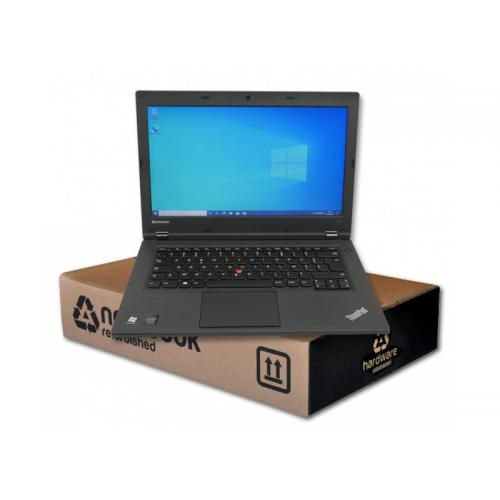 Lenovo ThinkPad L440Intel Pentium 3550m 2.3 GHz. · 4 Gb. SO-DDR3 RAM · 500 Gb. SATA · Teclado internacional con pegatinas en