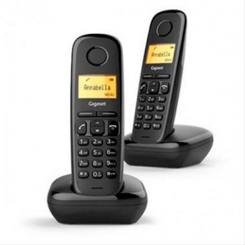 TELEFONO INALAMBRICO GIGASET A170 DUO NEGRO