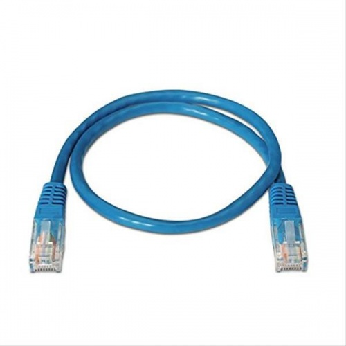 CABLE RED LATIGUILLO RJ45 CAT.6 UTP AWG24,0.5M AZUL NANOCABLE