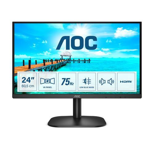 "AOC B2 24B2XDAM LED display 60,5 cm (23.8"") 1920 x 1080 Pixeles Full HD Negro - Imagen 1"