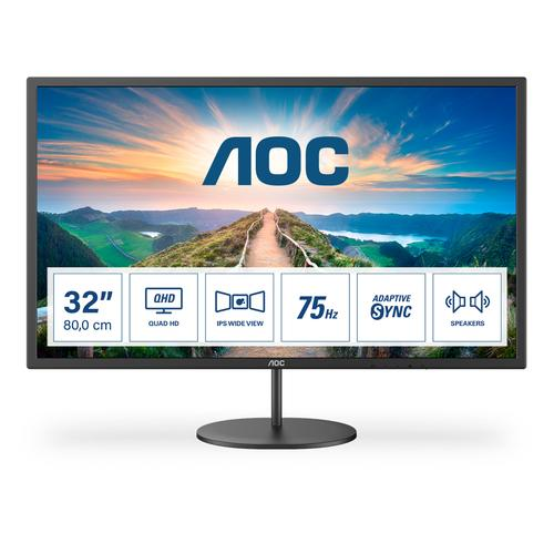 """AOC V4 Q32V4 pantalla para PC 80 cm (31.5"""") 2560 x 1440 Pixeles 2K Ultra HD LED Negro - Imagen 1"""
