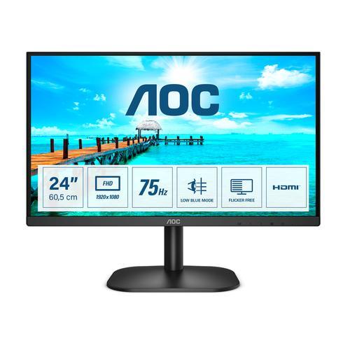 "AOC B2 24B2XHM2 pantalla para PC 60,5 cm (23.8"") 1920 x 1080 Pixeles Full HD LCD Negro - Imagen 1"