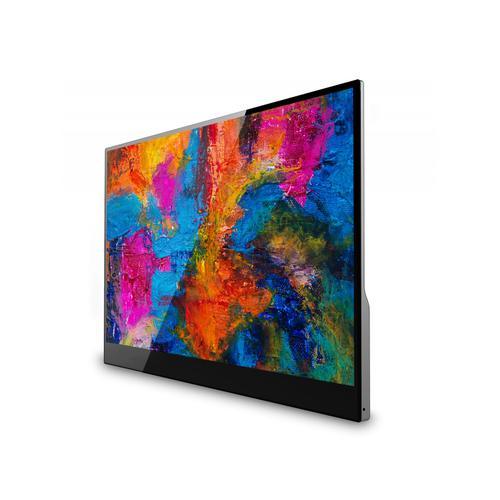 """V7 Monitor de pantalla táctil portátil USB-C de 15,6"""", 1080p, HDMI, IPS, ultrafino, 10 puntos de contacto, tipo C, altavoz, 16:9"""