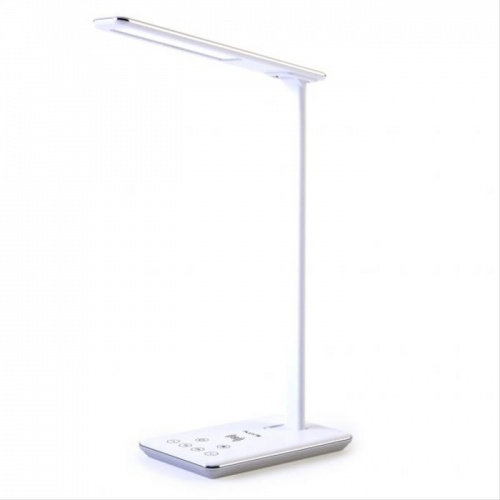 LAMPARA ESCRITORIO LED FLUX´S INDUS CON CARGADOR INALAMBRICO SMARTPHONE