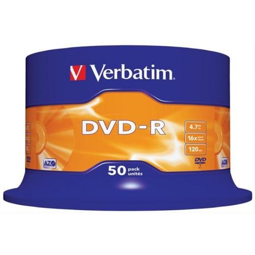 VERBATIM DVD-R 4.7GB 16X SCR. RESISTANT 50U·