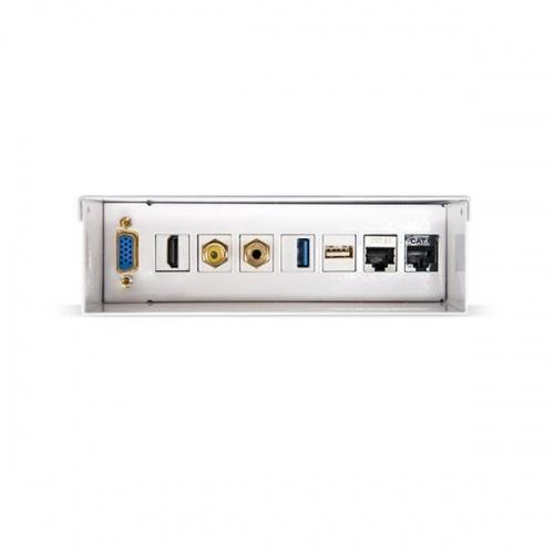 CAJA DE CONEXIONES MULTIMEDIA DE PARED VGA+HDMI+JACK3.5+RCA+USB3.0+USB2.0+2XRJ45 BLANCO