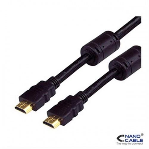 CABLE HDMI V1.4 ALTA VELOCIDAD/HEC FERRITA A/M-A/M 10M NANOCABLE
