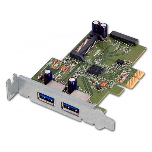 PCIe USB 3.0 PoE Low Profile Tarjeta controladora PCI Express 2 Puertos USB 3.0 PoE