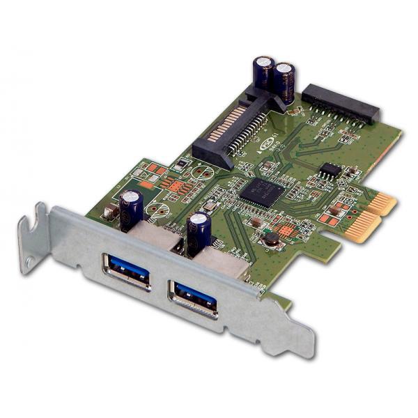 PCIe USB 3.0 PoE Low Profile Tarjeta controladora PCI Express 2 Puertos USB 3.0 PoE - Imagen 1