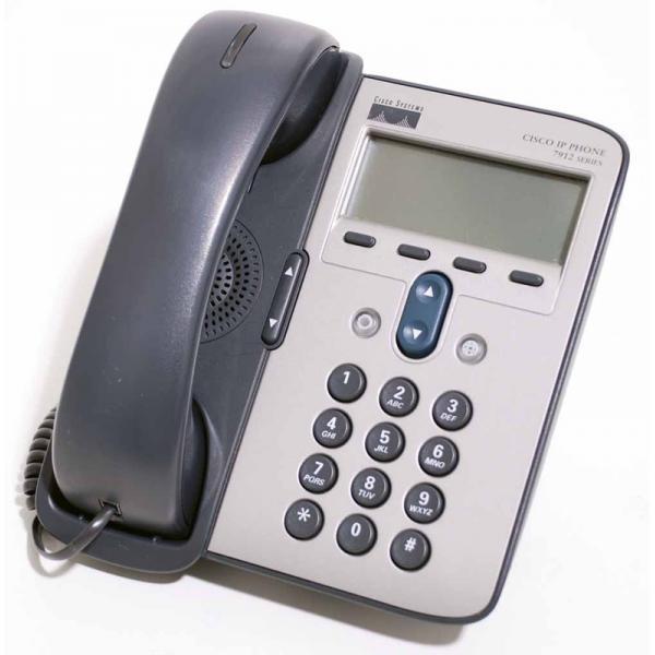 CISCO IP PHONE 7912G-A SCCP y SIP - 1 Línea - Pantalla Monocromo 192 x 64 - Imagen 1