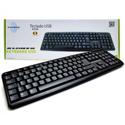 Teclado KL-TECH USB Idioma: Español. Conectividad:USB. - Imagen 1