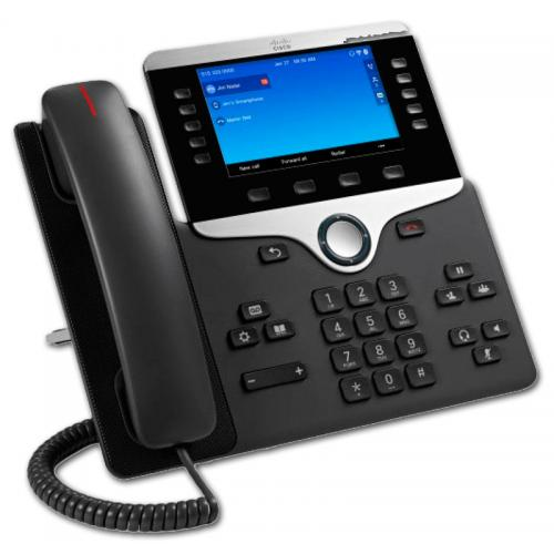 CISCO IP PHONE 8851 SDP, SIP - Pantalla Color 5'' WVGA - Pantalla 800x600 - 2 puertos Ethernet 10/100/1000 PoE - Toma Auriculare
